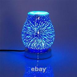 Glass 7 Led Colour Changing LED Aroma Diffuser Electric Wax Melt Oil Burner