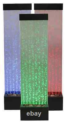 H150cm Bubble Water Wall with Colour Changing LEDs Indoor Use by Fluid