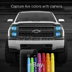 H16 2in1 Bright 6000K LED Headlight Bulbs + Color Changing Devil Eye App Control