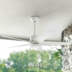Hampton Bay Mara Ceiling Fan 54 in. Color Changing LED Indoor/Outdoor, White