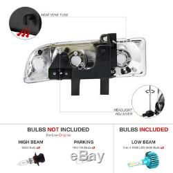 Headlights Corner Assembly Chevy 98-04 Blazer S10 Color Changing LED Low Beam