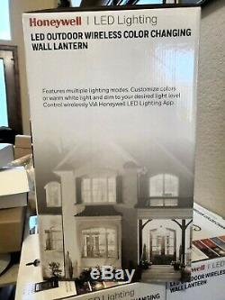 Honeywell, LED Outdoor Wireless Bluetooth Color-Changing Dimmable Wall Lantern