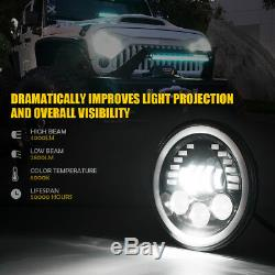 Jeep Wrangler 7 Prism Series 85W DRL LED Headlight Turn Signal Amber / White