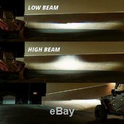 Jeep Wrangler JL Gladiator JT Headlights Bi-LED RGB Color Changing Bluetooth App