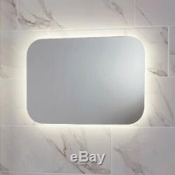 LED Bathroom Mirror Demister Pad Shaver Socket Colour Change 600mm x 800mm Mains