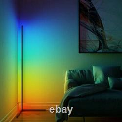 LED Corner Floor Lamp 16M RGB Colours Black UK Next Day Delivery