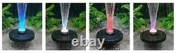 LED Pool Or Pond Floating Water Fountain Color Changing or All White 600GPH pump