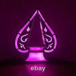 LED Rechargeable Spade Bottle Presenter Flashing Color Changing Remote Champagne