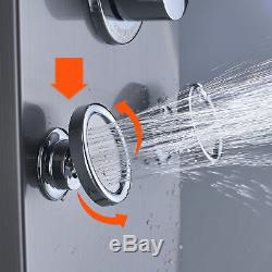LED Shower Panel Column Rain Tower withBody Jets + Waterfall Bathroom Shower Head