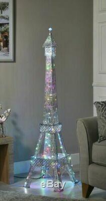 Large Eiffel Tower Floor Lamp Iridescent 120 colour-changing LEDs Home Decor Lux