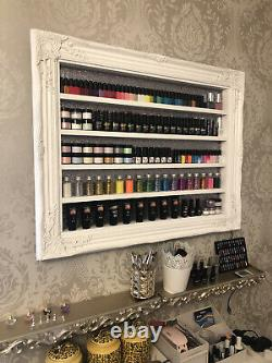 Large Wall Mounted Nail Polish Display With LED Colour Changing Lights