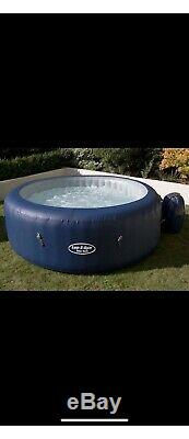 Lay-Z-Spa New York 6 Person Hot Tub like Paris (FREE Cleaning Kit) LED Lights