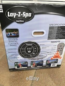 Lay Z Spa New York, Hot Tub Jacuzzi With Built In LED Lights. + Cleaning Kit