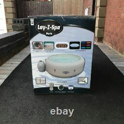Lay Z Spa Paris 6 Person Inflatable Hot Tub with LED Lights NEW SEALED lazy spa
