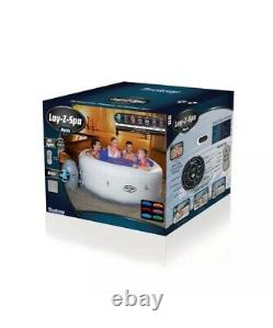 Lay-z-spa Paris Airjet Hot Tub Brand New Lazy Spa Led Lights Uk Limited Stock