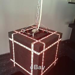 Led Light Cube Large Ceiling Light Multi Colour Changing Remote Control Modern