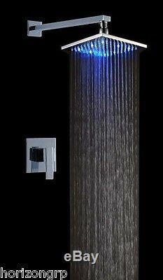 Led Shower Set with 8-Inch Shower Head Temperature Changing Color Sensor