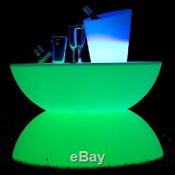 Light Up LED Colour Changing Mood Light Curved Coffee Table Indoor/Outdoor