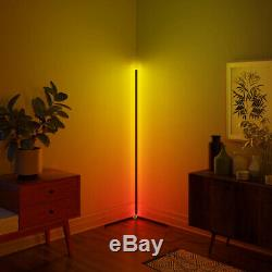 Minimalist LED Corner Floor Lamp Colour Changing License 33-Smd 42mm White