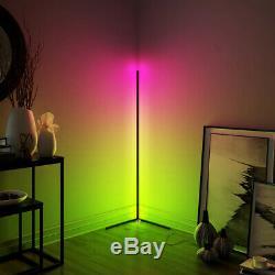 Minimalist LED Corner Floor Lamp Colour Changing License 33-Smd 42mm White