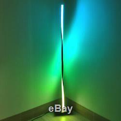 Minimalist LED Corner Floor spiral Lamp Colour Shifting License 33-Smd42mm black