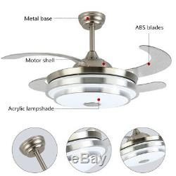 Modern LED 7 Light Color Ceiling Fan Music Changing Lamp Fan Remote/APP Control