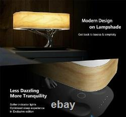 Modern LED table lamp Bedroom dimmable Bluetooth speaker phone wireless charge