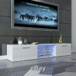 Modern TV Unit Cabinet Stand Sideboard Matt body and High Gloss Doors LED