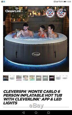 Monte Carlo 6 Person Hot Tub WiFi & LED Lights