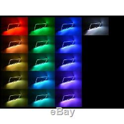 Multi-Color Changing LED RGB Headlight Halo Ring Set For 09-16 Dodge Ram Sport