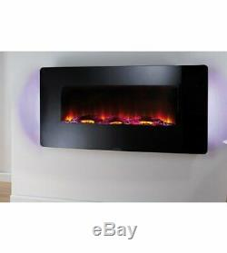 NEW Beldray EH1162 36 Colour Changing LED Electric Wall Freestanding Fire 1500w