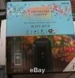 NEW Gemmy Orchestra of Lights TWO Christmas Tree Color Changing LED w Speaker