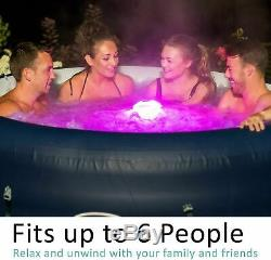 NEW Lazy Spa St Tropez LED Airjet Lay Z Hot Tub 4-6 Person (Paris Milan Moritz)