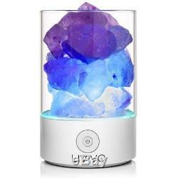 Natural Himalayan Colour Changing Salt Electric Lamp Light Home Decor Ioniser