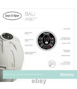New 2021 Lay Z Spa Bali Air Jet Hot Tub LED Coloured Lights 4 Person Hot Tub