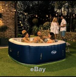 New Clever Spa Belize Square 6 Person Hot Tub & LED Lights Brand New Lay Z Spa