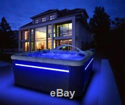New Palm Spas Cosmo+ Luxury Hot Tub Spa 6 Seat American Balboa Music Led Lights