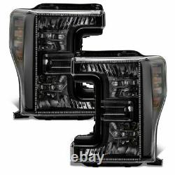 Oracle Dynamic ColorSHIFT Pre-Assembled Headlights Black For 17-19 Ford F-250