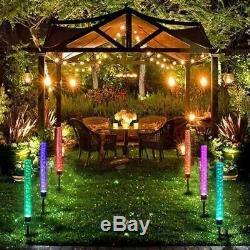 Outdoor Solar LED RGB Crystal Bubble Tube Lights Garden Decor Lamp Color Change
