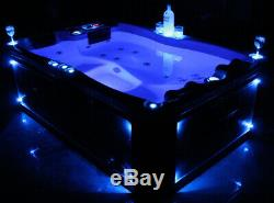 Outdoor Whirlpool Hot Tub with Heater Ozone LED for 2 3 Persons Many Colours