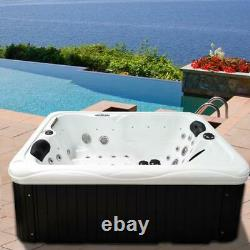 Outdoor whirlpool With Heater LED Ozone Hot Tub Spa For 2 Persons 195x135 Wpc