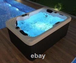 Outdoor whirlpool With Heater LED Ozone Stairs Hot Tub Spa For 2 Persons 195x135
