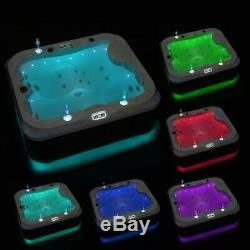 Outdoor whirlpool With Heater LED Ozone Stairs Hot Tub Spa For 3 Persons 195x170