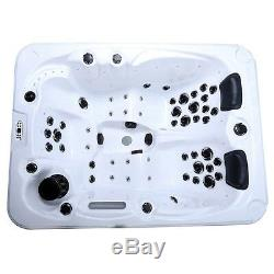 Outdoor whirlpool With Heater LED Ozone Stairs Hot Tub Spa For 3 Persons Garden