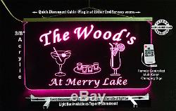 Personalized Bar Sign, Hanging Multi-Color Changing, Custom LED Sign, Pub Light