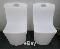 Plastic LED Colour Changing Commercial Domestic 2x Chair 1x Coffee Table -CS H64
