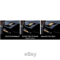 RGBWA LED Multi-Color Changing Headlight Accent DRL Set For 2018-19 Ford Mustang