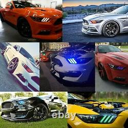 RGB LED Multi-Color Changing Headlight Accent DRL Set For 2015-2017 Ford Mustang