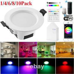 RGB LED Smart Downlight WiFi App Control Ceiling Panel Round Lamp Spotlight UK