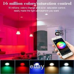 RGB LED Smart Downlight Wireless App Control Ceiling Panel Round Lamp Spotlight